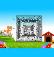 labyrinth game for preschool children vector image
