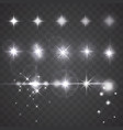 lights stars or camera lens effects on dark vector image