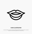 lips girl line icon vector image