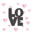 love text in flat design vector image