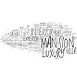 mansion word cloud concept vector image vector image