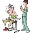 nurse and pierce vector image