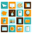 Office icons set flat vector image vector image
