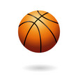 orange basketball object vector image vector image
