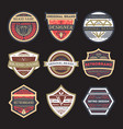 original vintage brand isolated label set vector image