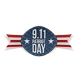 Patriot Day 9-11 Banner with Ribbon vector image