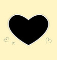 photoframe heart for a wedding or valentines day vector image vector image