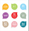 premium promo seals stickers collection 1 vector image vector image
