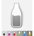 realistic design element milk vector image