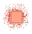 Red Confetti Banner Set of Particles vector image