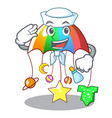 sailor character hanging toy attached to cot vector image