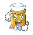 sailor flour character cartoon style vector image vector image