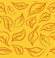 seamless foliage pattern hand draw leaf vector image vector image