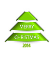 Simple christmas tree made from paper stripes vector image vector image