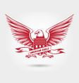 sketched american eagle emblem design vector image vector image