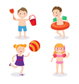 Summer Vacation Concept Happy Kids Having Fun vector image