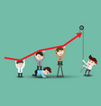 teamwork leading to successful business vector image vector image