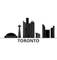 toronto architecture city skyline travel vector image vector image