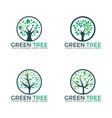tree set logos design vector image