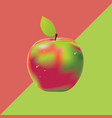 two colored background with apple vector image
