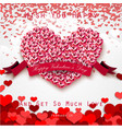 valentine heart concept roses with pink ribbon vector image