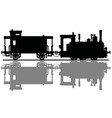 vintage steam locomotive and a post wagon vector image vector image