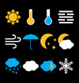 weather icons set in flat style vector image