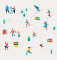 winter sport scene christmas festival and fair vector image vector image