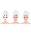 womens head in towel vector image