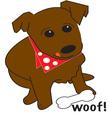 Woof vector image vector image