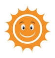 yellow avatar face sun graphic vector image