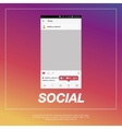 Mobile application and Icon for social network vector image