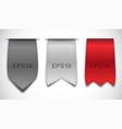 bookmarks - ribbons vector image