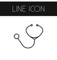 isolated stethoscope outline doctor tool vector image