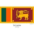 National flag of Sri Lanka with correct vector image