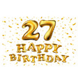 27 years anniversary happy birthday joy vector image vector image