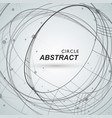 abstract circle shapesm line and dots vector image