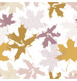 abstract maple leaves seamless pattern in gold vector image vector image