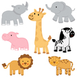 African animals set vector | Price: 1 Credit (USD $1)