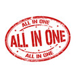all in one grunge rubber stamp vector image vector image