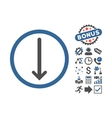 Arrow Down Flat Icon With Bonus