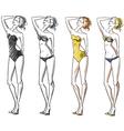 Attractive girl wearing bikini vector image vector image