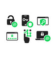 authentication icons set 01 vector image vector image