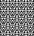 Black and white triangles in row vector image