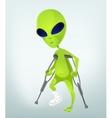 Cartoon Injured Alien vector image vector image