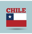 chile country flag vector image vector image