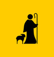 christian symbols shepherd and faithful sheep vector image