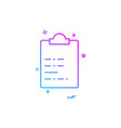 clipboard icon design vector image vector image