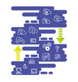 cloud computing network set icons vector image