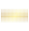 crown gold halftone array vector image